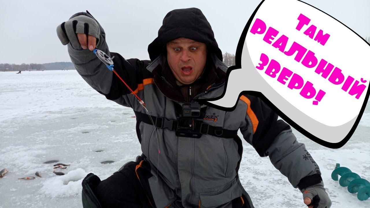 Поехали ловить плотву, а нарвались на РЫБУ НЕЖДАНЧИК :-) Зимняя рыбалка с Михалычем!