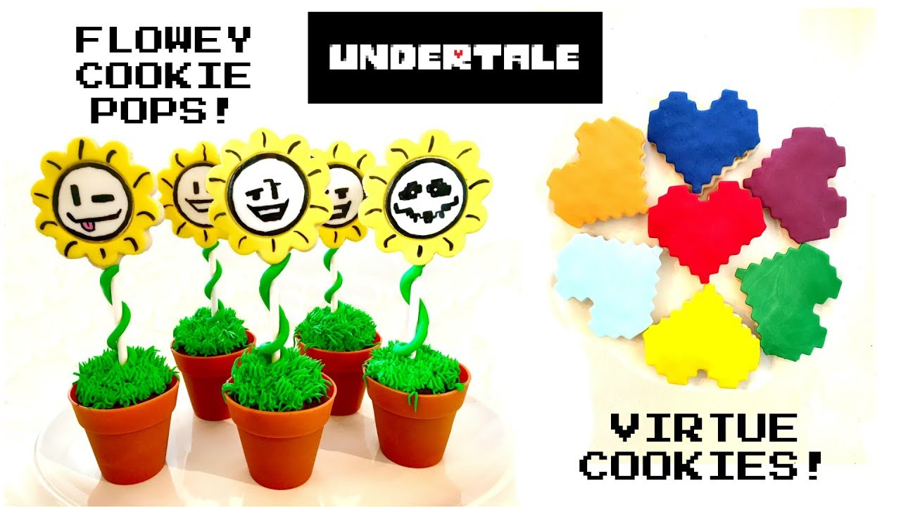 Undertale Sans cake and Flowey cupcakes Undertale t