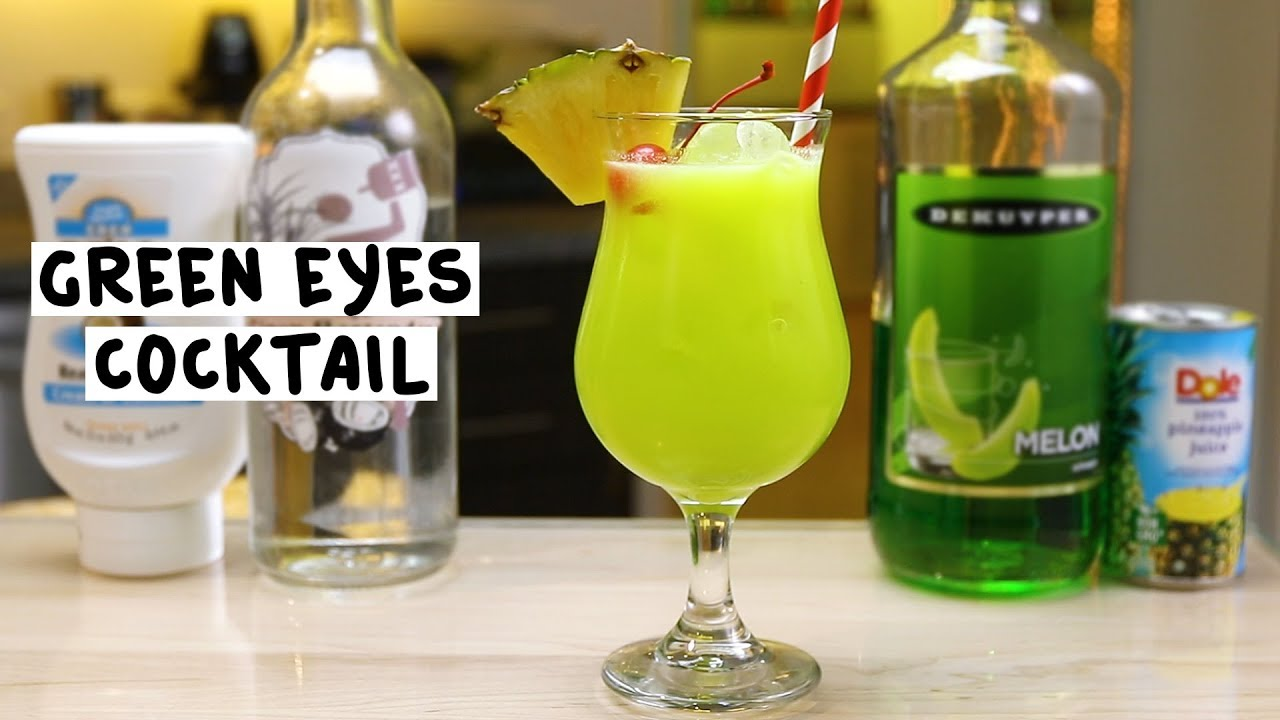 Green eyes cocktail tipsy bartender for Green alcoholic drinks recipes