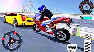 3D Sürüş Sınıfı Simülatörü - Motosiklet vs Tren Komik Sürücü - Android GamePlay # 8