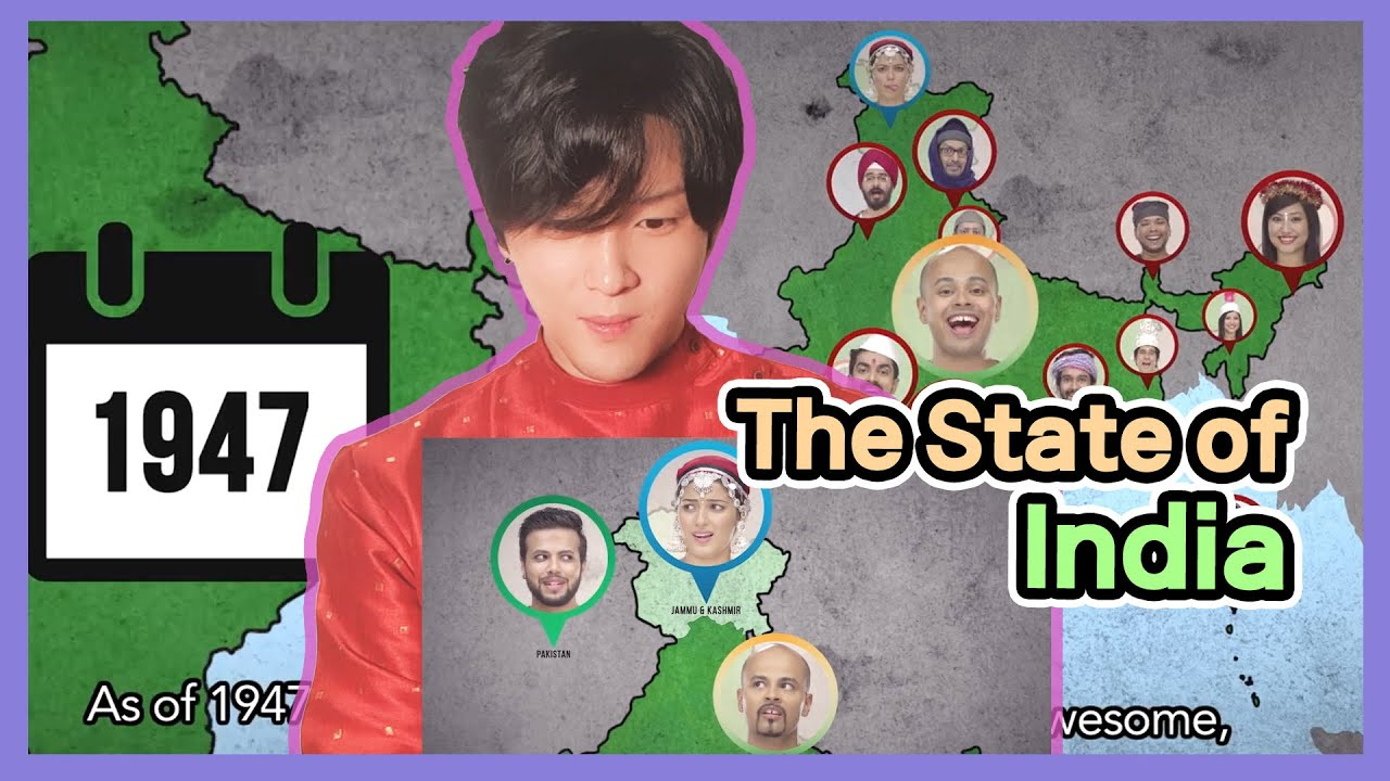 Korean Reacts to 【The State of India】 | How States of India was Formed after the Independence |EIC