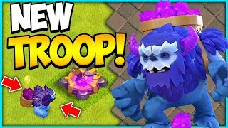 The New Yeti in Action at Town Hall 13 in Clash of Clans Update Hype