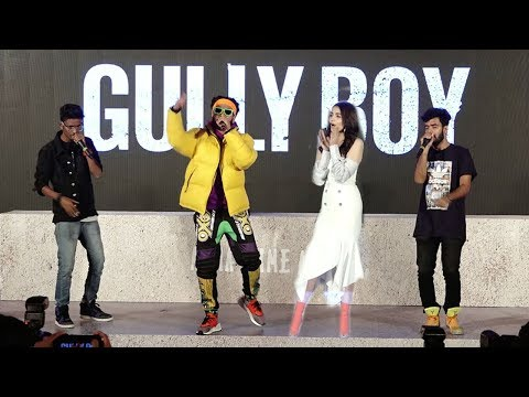 LIVE Ranveer Singh's AMAZING Rap On Asli Hip Hop Song At Gully Boys Trailer Launch