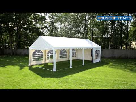 Marquee, Party Tent (PVC) – Setup 4x8m Professional