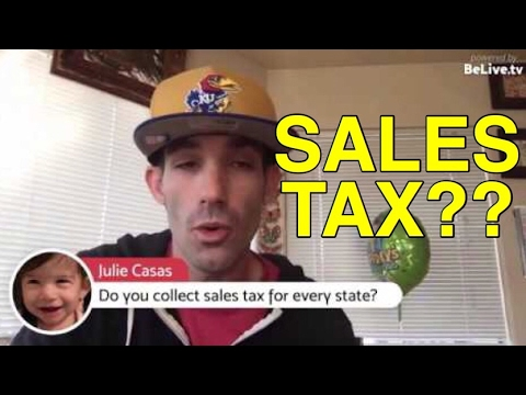 Taxes?? Sales Tax? Q&A AMA Live Chat - Ebay Amazon Seller Tips For Beginners #2017flipchallenge