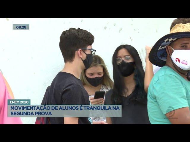 ENEM 2020: Movimentação de alunos é tranquila na segunda prova