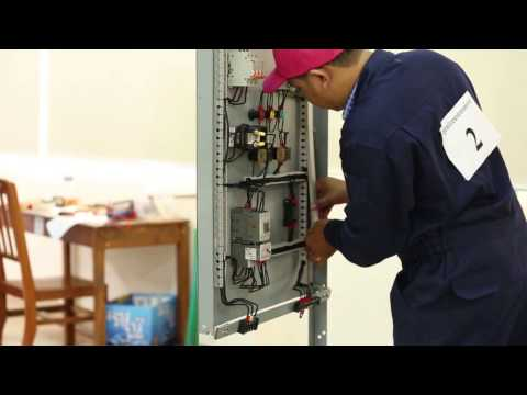 TVET Cambodia - How to set up the Power Distribution and Control Panel Board