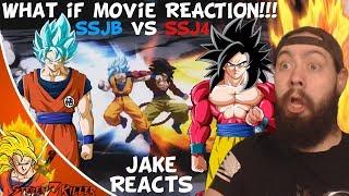 Jake Reacts [What-If MOVIE] Super Goku VS GT Goku (DBS Manga VS DBGT, SSJB VS SSJ4)