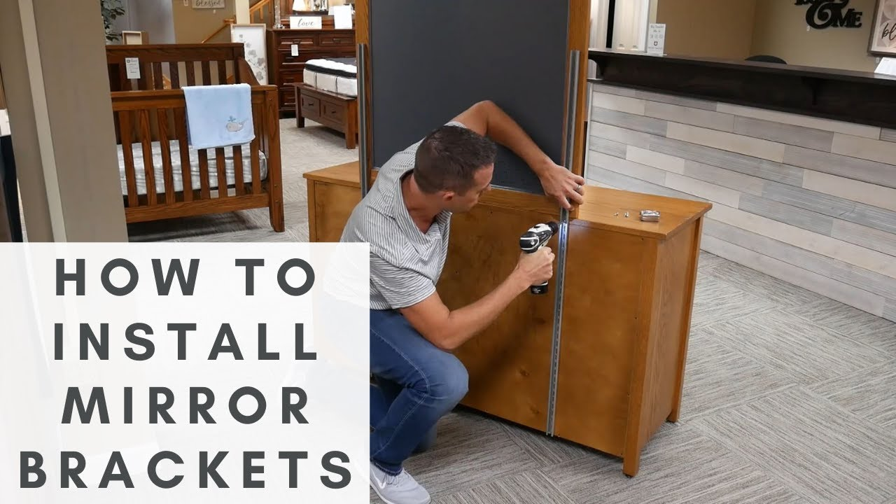 How To Fasten A Mirror Dresser