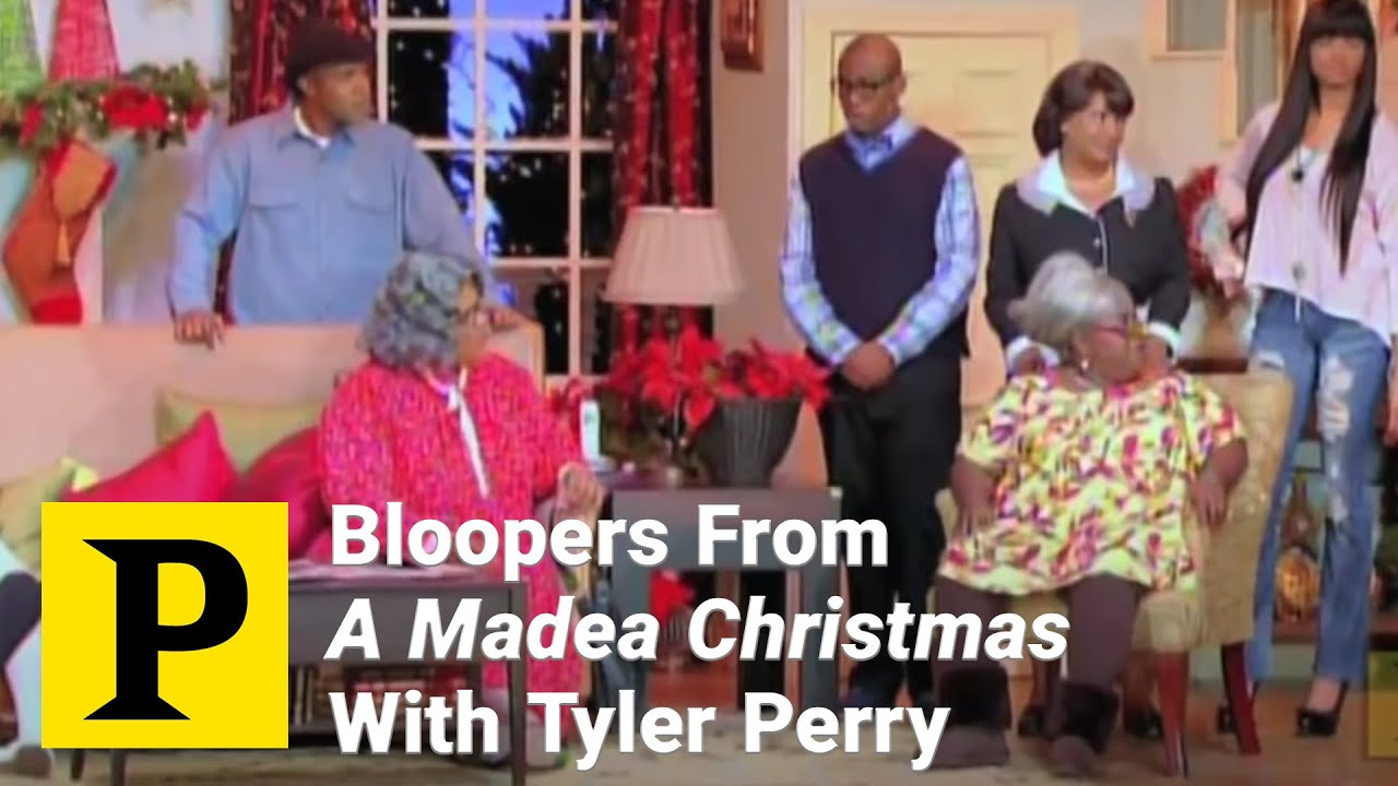 bloopers from a madea christmas with tyler perry youtube