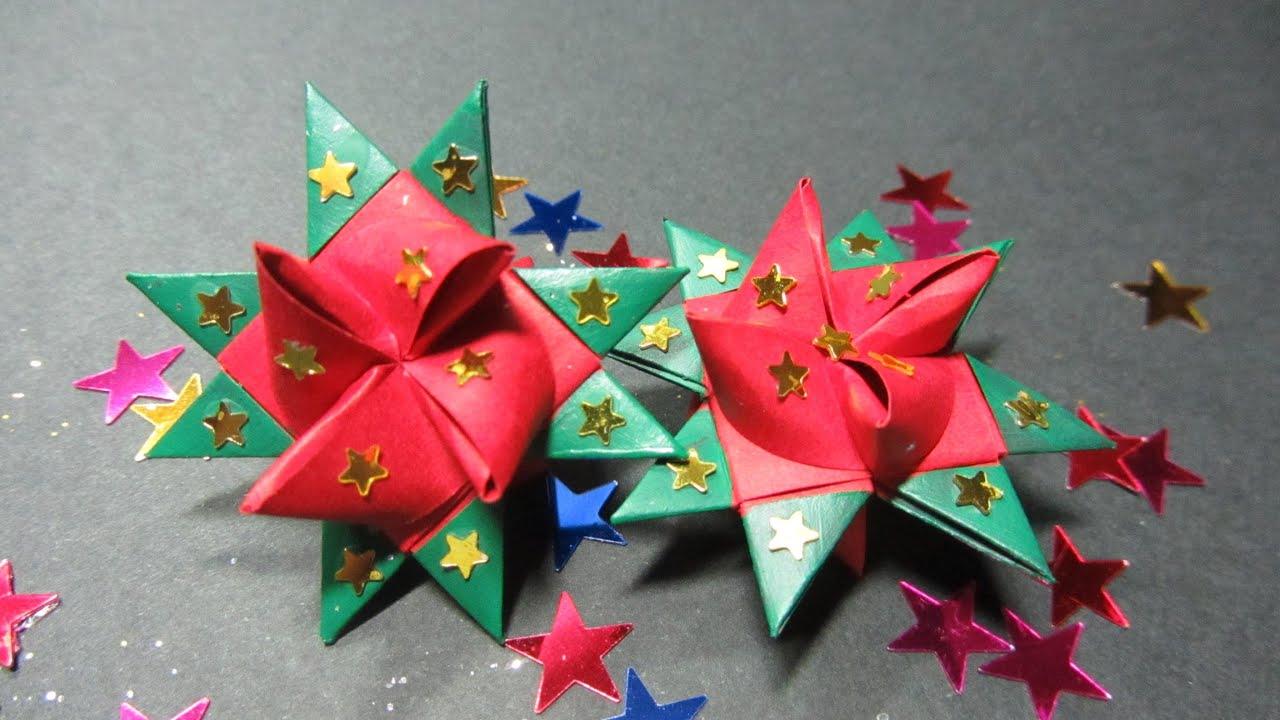 Tutorial estrella de papel en 3d paper stars 3d youtube - Estrellas de papel ...