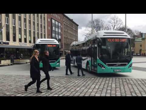 Estonian local news. Tallinn got 50 new hybrid-type bus. 2017