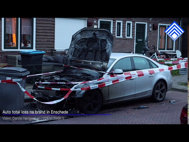 Auto total loss na brand in Enschede