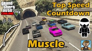 Fastest Muscle Cars - Top Speeds Of Fully Upgraded Cars In GTA Online