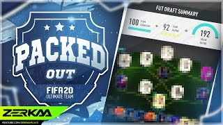 GETTING A 192 RATED TEAM IN THE DRAFT! (Packed Out #101) (FIFA 20 Ultimate Team)