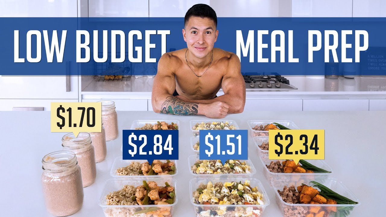 How To Build Muscle For /Day (HEALTHY MEAL PREP ON A BUDGET)