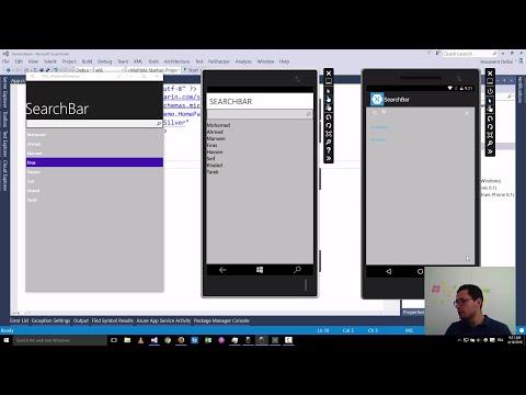 Xamarin Forms with Visual Studio Part 27 [SearchBar] - YouTube