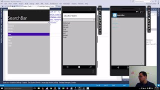 Xamarin Forms with Visual Studio Part 27 [SearchBar]