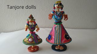 Quilling Dancing Dolls | Tanjore dancing dolls | Quilling dolls | Diy Quilling dolls |
