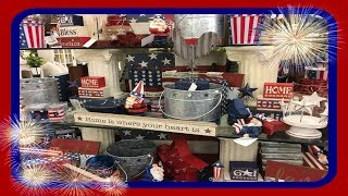 4th of July Decor Shopping At Hobby Lobby! 2018