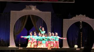 Vandana Dance Studios Girls Folk Dance - Neema Sari Palace Dance Competition 2012