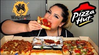 Pizza Hut Wing Street Mukbang | Eating Show