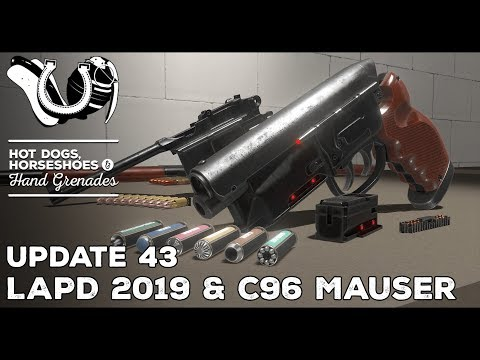 H3VR Early Access Update #43: LAPD 2019 Special, C96 Mauser, Wurstwurld Additions
