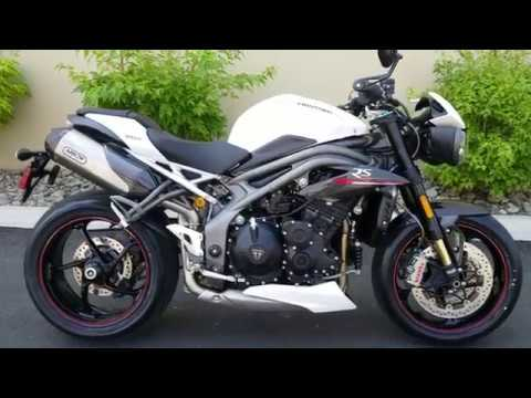 2019 triumph speed triple rs crystal white youtube. Black Bedroom Furniture Sets. Home Design Ideas