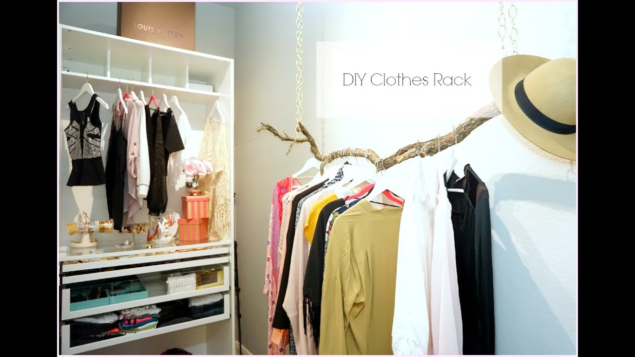 Wonderful DIY Clothes Rack   DIY Room Decor   MissLizHeart   YouTube