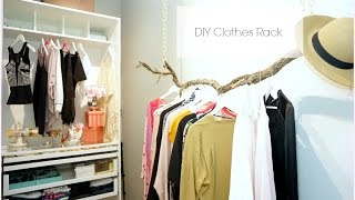 Diy Closet Hanging Clothes Rack - Diy Room Decor - Pinterest Inspired Room Decor - Misslizheart