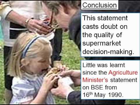 BSE: Response to U.K. supermarket executive 1996