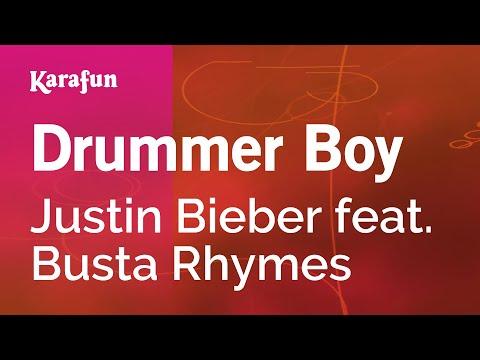 Karaoke Drummer Boy - Justin Bieber *