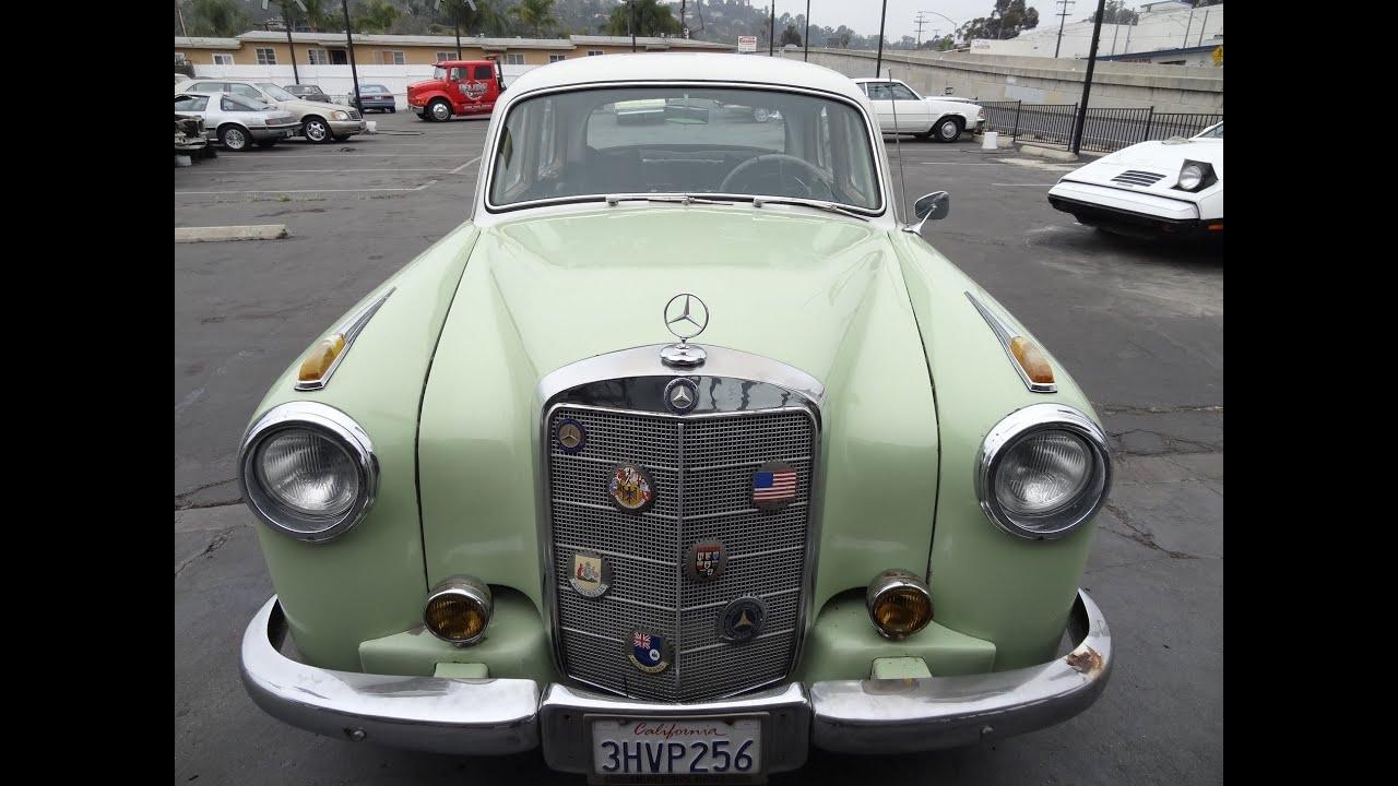 Mercedes benz 220s w180 ponton 220 s 180 190 sedan 1957 classic mercedes benz 220s w180 ponton 220 s 180 190 sedan 1957 classic oldtimer 300e motor conversion sciox Gallery