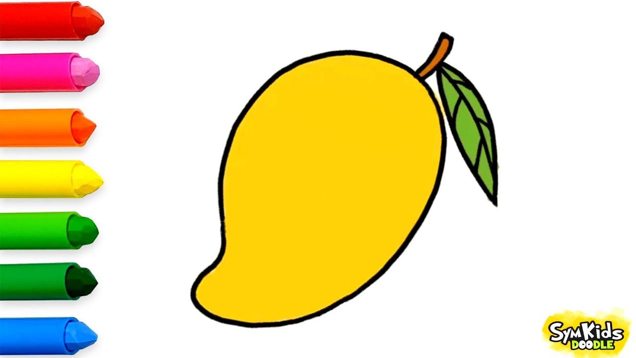 How to Draw a Mango #1