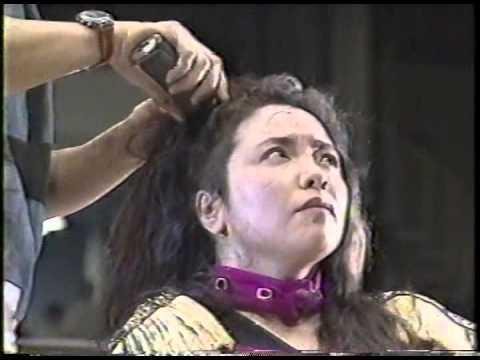 女子プロレス 敗者髪切りマッチ 風間ルミ 断髪 丸坊主
