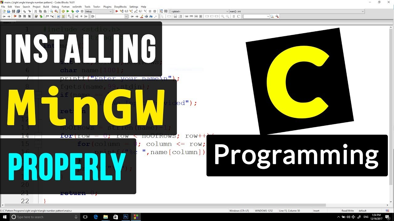 C Programming 5 - MinGW Compiler Suite Installation for C / C++ Programming ( Windows )