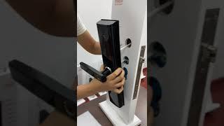 smart door lock installation video from YOHEEN screenshot 2
