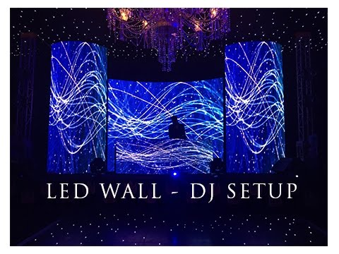 LED Wall DJ Setup - Wedding Cocktail by Vibes Entertainment