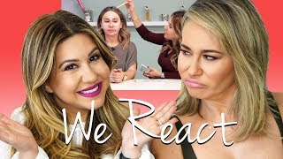 We React to Our Old Makeup Tutorial - The Shade is Real!