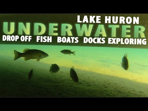 RELAXING UNDERWATER FOOTAGE - WITH NARRATION - FISH - BOATS - DOCKS. GREAT LAKES VIDEO.