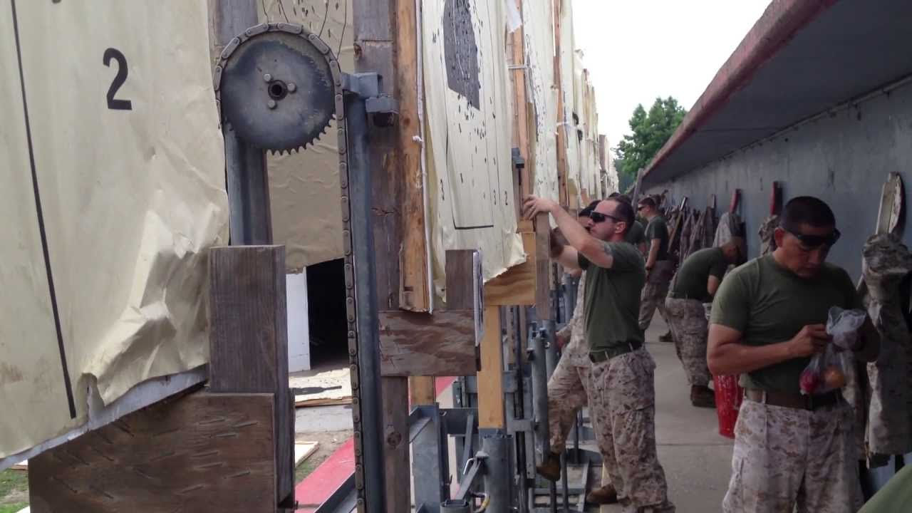 Rapid Fire In The Usmc Rifle Range Target Pits Youtube