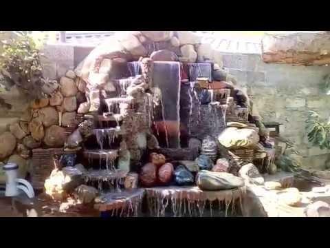 видео: Водопад в саду! Обучение!!!