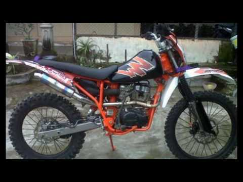 Video Motor Honda Mega Pro Modifikasi Trail Ts Youtube