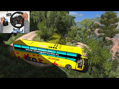 Volvo Bus Driving By Indian Driver | Part 2 | Scariest Road | Euro Truck Simulator 2 With Bus Mod
