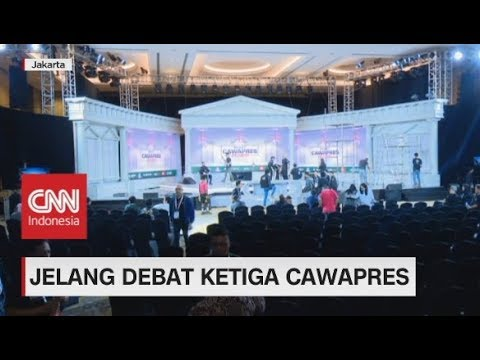 Mengintip Persiapan Venue Debat Ke-3 Cawapres
