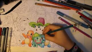 Speed Drawing: Pokémon 1. Generation ~ Part 1