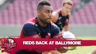 Reds back training for Super Rugby at Ballymore | Rugby Video Highlights