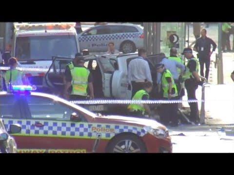 Car crashes into pedestrians in Melbourne, Australia
