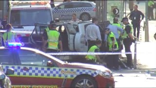 Car crashes into pedestrians in Melbourne, Australia