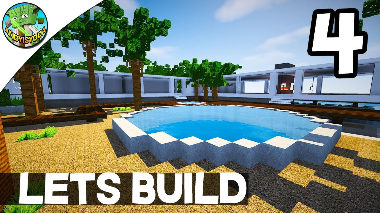 Minecraft lets build a modern house e04 by andyisyoda for Lets build modern house 7